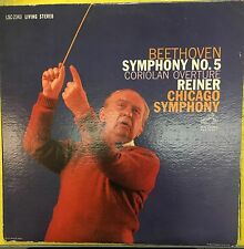 REINER Beethoven Symphony No. 5 Chicago Symphony RCA Living Stereo VG+ LP