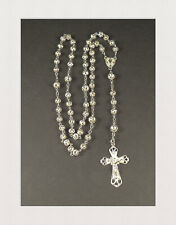 Rosenkranz aus 800 Silber mit Silberperlen Beten Glauben Filigrankugeln