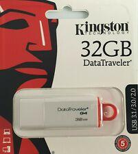 2 X KINGSTON DATA TRAVELER G4 32 GB USB 3.1/3.0/2.0