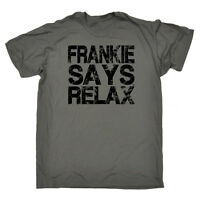 Funny Novelty T-Shirt Mens tee TShirt Distress Black Frankie Says Relax