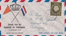 Cover FDC Nederlandse Antillen 15-12-1954 Statuut voor het Koninkrijk der Nederl