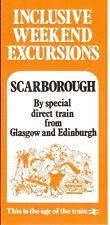 Scarborough Spa boarding house 1982 direct special train x Glasgow Edinburgh