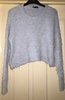 Topshop Size 12 Jumper Shaggy Cropped