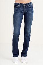 True Religion Women's Billie Straight Leg Jeans Size 24 NWT Low Rise WF116CEM