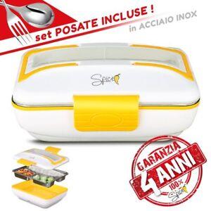 Spice lunch box  garanzia 4 anni italia  vaschetta estraibile acciaio inox 50 w