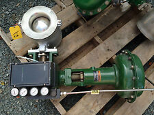 FISHER REBUILT V-200 6 INCH CLASS 150-300 1052 ACTUATED VALVE