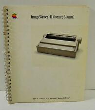 VINTAGE APPLE IMAGEWRITER II USER'S MANUAL GUIDE, BOOK, APPLE II,II PLUS, LISA