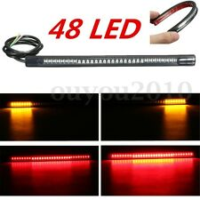 Soft Flexible Motorcycle 48LED Light Strip Rear Tail Brake Stop Turn Signal Lamp