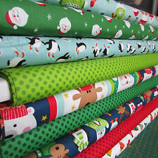 Makower Christmas 2017 Novelty 100% cotton quilting & patchwork fabric per 1/ 2m