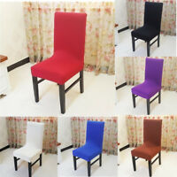 Easy Fit Stretch Washale Slipcover Dining Room Wedding Banquet Chair Seat Cover