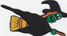 iron on Patches embroidered Patch Evil Witch on Broom Fairy Tale Comic -a7e7