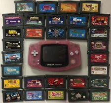 Nintendo GameBoy Advance Pink Bundle 30 Games TESTED and Working