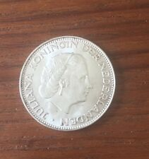 1966 Netherlands Juliana Koningin Der Nederlanden 2 1/2 G SILVER Coin 15 Grams