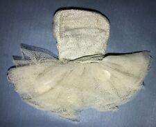 Vintage 1961 Barbie DOLL Ballerina #989 Silver White Tulle Lame Ballet Tutu Tag