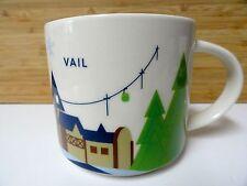 NEW Starbucks Vail Coffee Mug Colorado 14oz  Cup Ski Snowboard Trail Mountain