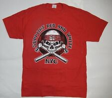 Support NYC Hells Angels LOCAL 81 SKULL MEDIUM  RED T SHIRT NEW