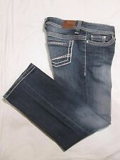 (*-*) BKE DENIM * BUCKLE * Womens PAYTON CROP Capri Blue Jeans / Denim * Size 28