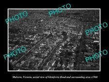 OLD 8x6 HISTORIC PHOTO OF MALVERN VICTORIA, AERIAL VIEW OF GLENFERRIE Rd c1960