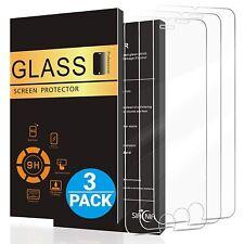 3x Panzerfolie Glas für iPhone 7 iPhone 8 Panzer Display Echt Glas Schutzglas 9H
