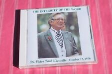 Dr. Victor Paul Wierwille The Integrity of the Word CD NOS  FREE SHIPPING!