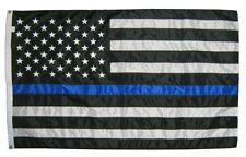 Thin Blue Line 3'x5' Nylon American Flag with grommets Free Shipping!