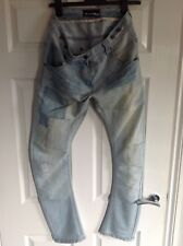 Gorgeous Womens Crafted Light Wash Distressed Jeans (Braces) Size 10 Waist 10/32