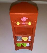 Dollhouse Miniature Dining Room Corner Shelf Bookcase Plastic Faux Wood