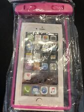 iPhone Waterproof Bag with Luminous Underwater Pouch Phone Case - Pink