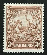 Barbados KGVI 1938-47 SG252a 3d 'Vertical Line Over Horses Head' MVLH Cat £150