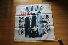 T&C Town and Country Surfboards Hot Curl 36in. Vintage Surfing Shop Vinyl Banner
