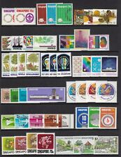 SINGAPORE COLLECTION 1970s/80s COMMEMORATIVES NEVER HINGED MINT