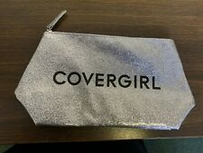 COVERGIRL Silver Glitter Makeup Cosmetic Bag - New