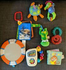 9pc BABY TOY LOT Infant TinyLove Einstein Kids II Musical Hanging Mirror Teether