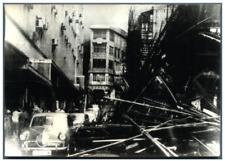 China, Hong-Kong frappé par le typhon Ruby Vintage silver print Tirage argenti