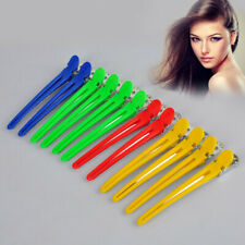 12Pcs Pro Colorful Hair Grip Clips Hairdressing Sectioning Salon Clamps Set Grip