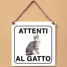 Mau egiziano 1 Attenti al gatto Targa gatto cartello ceramic tiles