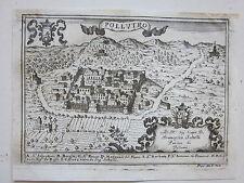 1703 POLLUTRO Giovan Battista Pacichelli acquaforte Pollutri Chieti Abruzzo