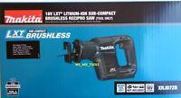 New In Box Makita 18V XRJ07ZB Compact Brushless Reciprocating Saw,Blades 18 Volt