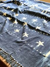 Vintage African Indigo Classic Mudcloth with Stars + Hand | No. 03