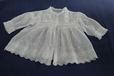 antique fine lawn baby matinee jacket smocking and embroidery