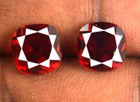 Burma Red Ruby Edelstein Paar 5 Ct 100% natürliche Kissen zertifiziert CG108