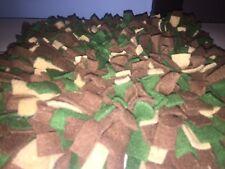 Handmade Brown/Tan/Hunter Green Dog/Pig Snuffle Mat/Training Feeding Mats 12x12