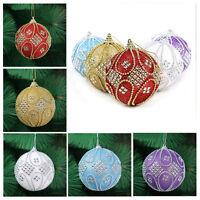Creative Christmas Gift Xmas Tree Ornament Rhinestone Glitter Baubles Ball Decor