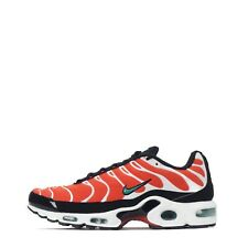 Nike Air Max Plus Men's Trainers Shoes, Orange/Green