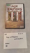 Age of Empires III w/ booklet / Microsoft Computer Game / Very Good Cond. 81117