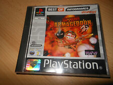 WORMS ARMAGEDDON - Sony Playstation 1 PS1 JEU - COMME NEUF Collectors PAL
