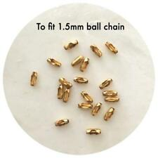20x Gold Stainless Steel End Connectors for 1.5mm Ball Chain Diy necklace cord