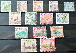 DD6 - RHODESIA & NYASALAND 1959/62 SET TO 10/- FINE USED ON STOCK CARD