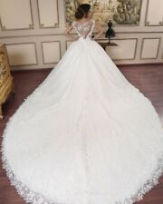 Luxury Princess Wedding Dresses Bridal Ball Gowns Sleeveless Appliques Petticoat