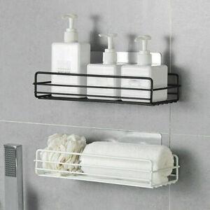 Wall Mount Bathroom Corner Shower Shampoo Storage Rack Organizer Baskets Kitchen